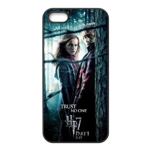 Deathly Hallows coque iPhone 4 4S Housse téléphone Noir de couverture de cas coque EBDXJKNBO11318