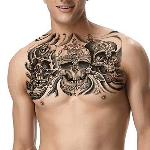 tzxdbh 5pcs-Tatouage épaule Masculine Tatouage Gros Seins Tatouage Autocollant imperméable à l'eau Tatouage garçon Maquillage Motif de Bras