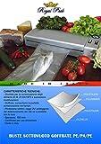 ROYAL PACK Buste e sacchetti per sottovuoto goffrati per alimenti 15x25 confezione da 100 sacchetti