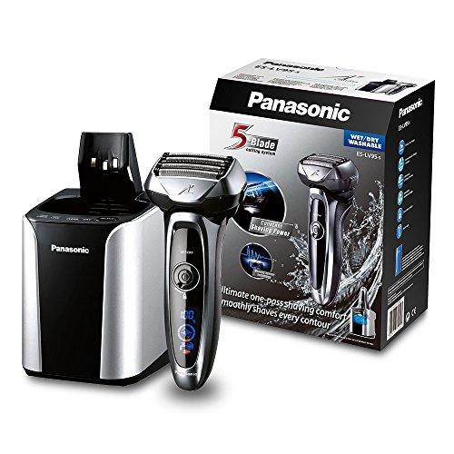 Panasonic Nass/Trocken-Rasierer ES-LV95 mit superflexiblem 2D-Scherkopf, Barttrimmer für Herren, elektrische Rasur, mit Lade- und Reinigungsstation