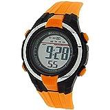Ravel Kids Alarm Stop Watch Digital LCD Orange PU Strap Watch RDB-18