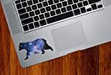 "Cosmic Bear - Design 2- Spirit Animal - Galaxy Guide - Trackpad | Tablet | iPad - Vinyl Decal Sticker Copyright 2015 Yadda-Yadda Design Co. (3.5""w x 2""h)"