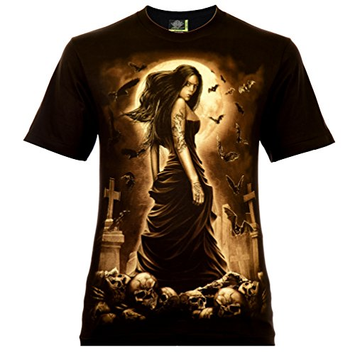 Vampire Beauty Herren T-Shirt Schwarz Gr. M Glow in The Dark (Halloween-glow Dark In Shirts The)