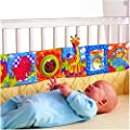 Vicky Store Infant Kid Baby Crib Gallery High-Contrast Development Puzzle Zoo Cloth Book Toy by Vicky