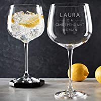 Funny Personalised Gin Glass for women/Gindependant Gin Goblet Gift/Birthday Christmas gift for her