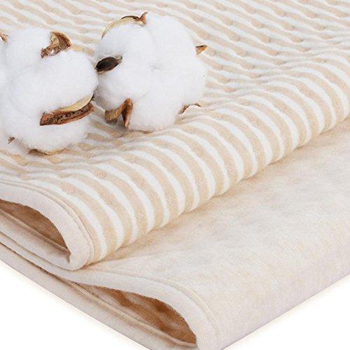 4 Lagen Wasserdicht Atmungsaktiv Inkontinenzauflage Bettunterlage für Baby Kinder Erwachsene Dry Night Matratzenauflage (60 * 100cm)