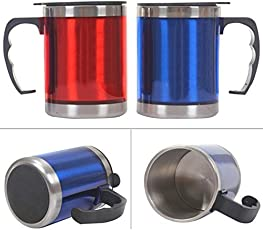 Stainless Steel Insulated Travel Mug with Sipper Lid (Multi Color) Pack of 1