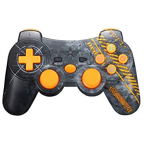 für PS3, Bluetooth Dual Vibration Gamepad Sixaixs (6-Achsen) Joypad für Sony PS3 PlayStation 3 ()