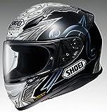 Casco Moto Shoei NXR Diabolic Premium Helmet, (Black Blue - TC-5), XL