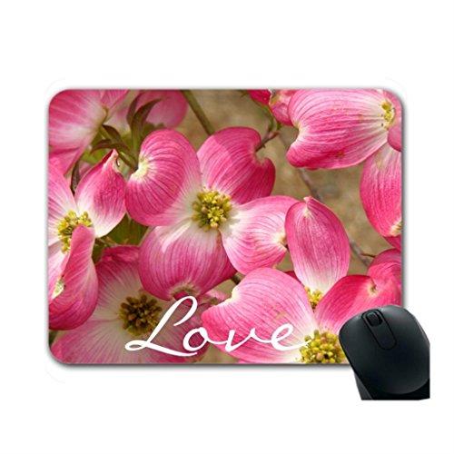 Helen Chen Pink Blumen Werbe Maus Pads Billig Pink Blume, wo zu kaufen Maus Pads Mitte Größe (Liebe Foto-matte)