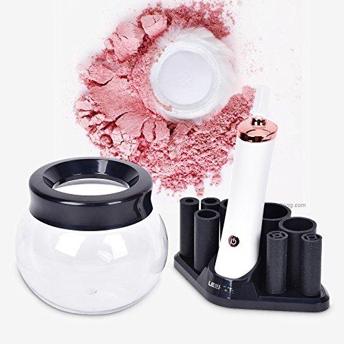 Nettoyeur de pinceaux, Sécher pinceaux, Automatique Electrique Nettoyage Appareil pour pinceaux - Rotation de 360 degrés - Les Brosses de Maquillage Multi-tailles