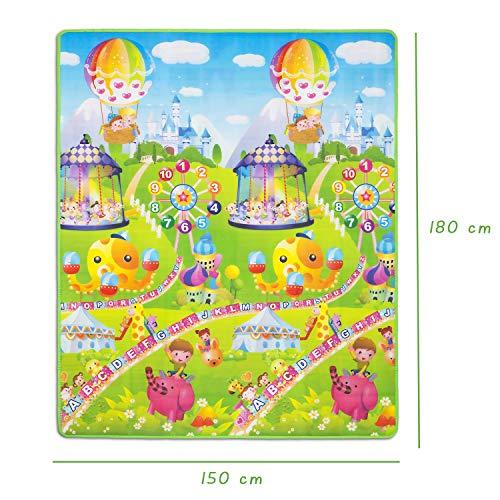 alfombra de Juegos Suave para niños Plegable Gran Doble Cara con Anim