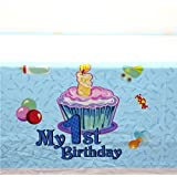 Partymane My 1st Birthday Theme Table Covers (Blue)