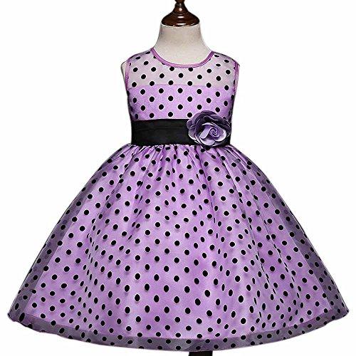 Halloween Karneval Mädchen Kleider Polka Dots Bedruckte Tüll Tutu Kleid (Einzigartige Kostüme 2017 Halloween Kleinkind)