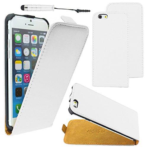 """ebestStar - pour Apple iPhone 6S 6 Plus écran 5,5"""" - Housse Coque Etui à rabat PU cuir ULTRA FIN (ultra slim case) + Mini Stylet tactile, Couleur Bleu [Dimensions PRECISES de votre appareil : 158.1 x  Blanc"""