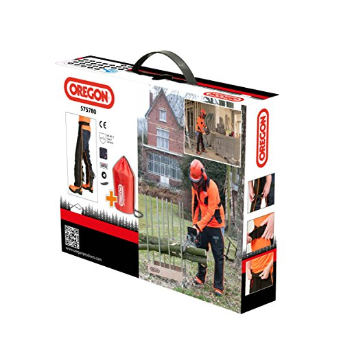 OREGON Universal Type A Chainsaw Safety Leggings, Adjustable Protective Chaps Trousers – Front Protection Only (575780)
