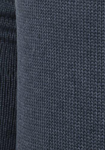 SOLID Poul Herren Strickjacke Cardigan mit Stehkragen aus hochwertiger Baumwollmischung Insignia Blue Melange (8991)