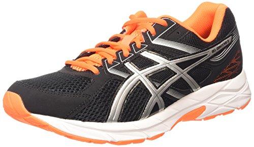 ASICS - Gel-contend 3, Zapatillas de Running Hombre, Negro (black/silver/hot Orange 9093), 44.5 EU