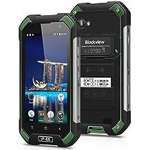 "Blackview BV6000S - Smartphone libre 4G Lte Android 6 (Pantalla 4.7"", 16GB ROM, 2GB RAM Cámara 8.0 Mp, Quad Core 1.3GHz, NFC, Dual SIM, Batería de 4200mAh, Impermeable IP68, a prueba de polvo), Verde"