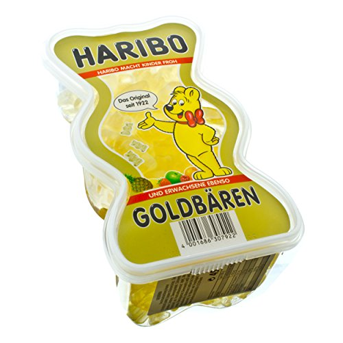 Haribo Goldbären Ananas, Gold Bären Dose, Bärendose, Frucht Gummi, Fruchtgummi, Gummibärchen, 450 g Formdose