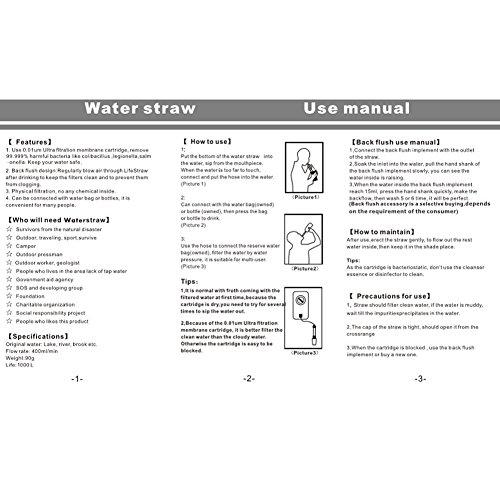 GoldFox® Premium Outdoor Persönlicher Wasserfilter Outdoor Camping Trekking Wasserfilter Wasseraufbereitung - 8