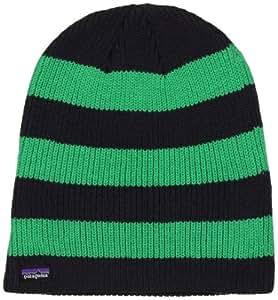 Patagonia  29230  Sloucher Beanie  Bonnet de ski mixte adulte raye vert/noir Taille Unique