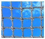"""HNWNJ Rete da Arrampicata,Rete di Corda Scale Bambini Protettiva Net a Fune Balcone Giardino Storage Luggage Cargo Corda Nylon Gattier Scalata Net Rete,per Ringhiera Scale Proteggere Recinzioni,6"""""""