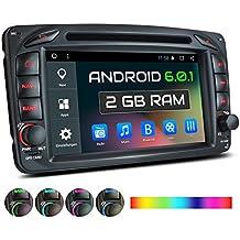 XM-04ZA Autoradio adatto per Mercedes Viano CLK Vito con Android 6.0.1 + GPS + touch screen 7'' + Supporto WIFI 3G 4G + Bluetooth + Porta USB (2TB!) + Slot Micro SD + Airchiviazione interna 16GB
