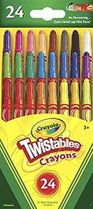 CRAYOLA Twistables Mini matite 24/Pkg-8 Bright, 8 Neon, arcobaleno 8 Colori