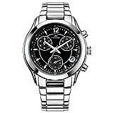 CENXINO Damen Luxus Chronograph Armbanduhren mit Kalender Datum und hoch präzisen Edelstahl-Band zum Muttertag Geschenk (Schwarz)