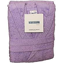 Bassetti Dream - Albornoz para niño/niña con capucha - Talla para 5–6–7–9–10–12años - Confeccionado en rizo de puro algodón 360gr/m² ANNI 7 / 9 Glicine - 1811