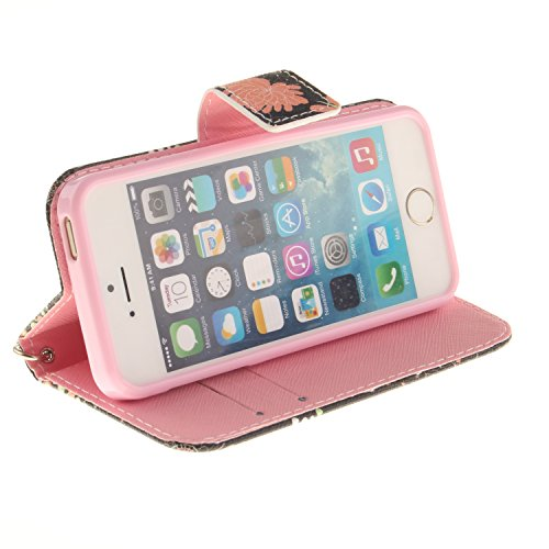 Voguecase® Pour Apple iPhone 5 5G 5S Coque, Étui en cuir synthétique chic avec fonction support pratique pour Apple iPhone 5 5G 5S (Panda 03)de Gratuit stylet l'écran aléatoire universelle fleur colorée 07