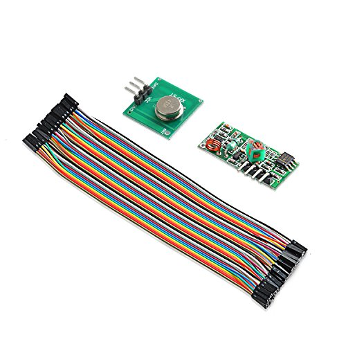 Aukru 433 MHz RF Wireless Transmitter + Receiver Module Kit for