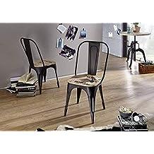 usine chaise 134 fer et bois massif - Chaise En Fer