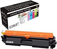 ICOMJET Compatible Toner Cartridge Replacement for HP 17A CF217A to use with Hp Laserjet Pro M102w M130fw Lase