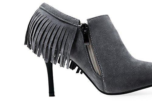 Balamasa-slip-on, Couleur: Vert, Écrit Avec Des Escarpins Frangés-chaussures Gris