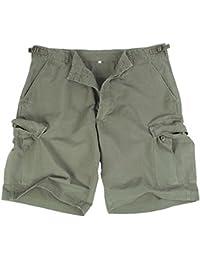 Fashion Review Short Cargo militaire prélavage Serre-Pantalon Vert Olive