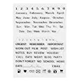Mxiaoming Weihnachts-Stempel, transparent, Datumsstempel, Silikon-Gummi, Transparent, haftend, für Scrapbook-Prägung, Album-Dekoration, DIY-Karten, Geschenk