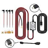 Dash Cam Harter Draht Kit, INRIGOROUS Mini USB / Micro USB Auto Hardwire Kit 3M Auto Ladegerät Kabel 12V 24V bis 5V Universal-Kfz-Netzteil mit ACU / ACN / ACZ / Micro2 Sicherung, 5V / 1.5A Ausgang für Dash Cam, GPS Navigator, Radar Detektor