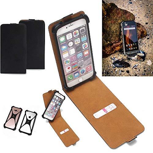 K-S-Trade Flipstyle Hülle Caterpillar Cat S31 Handyhülle Schutzhülle Tasche Handytasche Case Schutz Hülle + integrierter Bumper Kameraschutz, schwarz (1x)