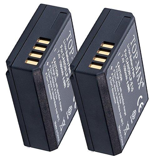 2 Baterías LP-E10 TOP-MAX®  + Cargador (compatible con Canon EOS 1100D, 1200D, 1300D, Rebel T3, Rebel T5)