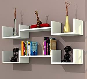 Life mensola da muro bianco mensola parete mensola libreria scaffale pensile per studio - Mensole da parete design ...