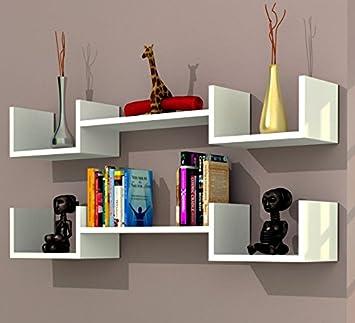Mensole per salotto mensola moderna pixel ripiano per for Mensole da muro