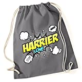 Turnbeutel - HARRIER Hasenhund Beagle Somerset Studbook Jagd Jäger Jagdhund - COMIC Cartoon Baumwoll Tasche Fun Siviwonder