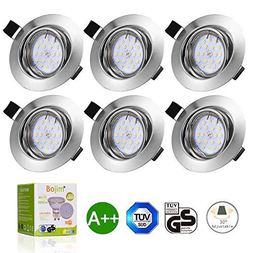 Foco LED empotrado orientable luz cálida - Pack de 6