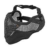 WINOMO 3G Airsoft Gesicht Maske Sport Steel Mesh halbe Gesicht Schutzmaske (schwarz)
