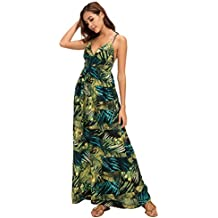Urban GoCo Mujer Vestido Largo Maxi de Verano Elegante Boho Backless Sundress para Boda Playas Fiesta