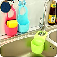 EQLEF® 2 PCS Esponja caja de almacenamiento en rack Cesta de paño de la colada jabón de tocador Plataforma Organizador Cocina Baño Gadgets fregadero Estanterías Bolsa