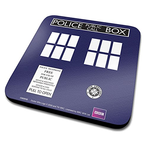 Pyramid-intl-Doctor-Who-Sous-verres-Tardis-10cm-5050574107600