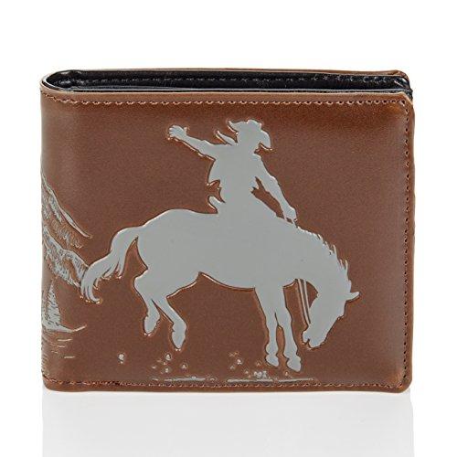 börse, Mens Wallet: Verschiedene Farben und Designs: (Pferd/Cowboy) (Cowboys Zubehör)